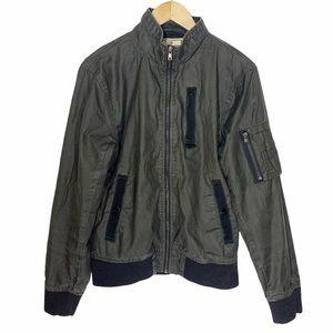 🌈3/$20 Chor Coated Denim Bomber Jacket, Size M